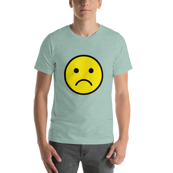 Emoji T-Shirt Store | Frowning Face emoji t-shirt in Green
