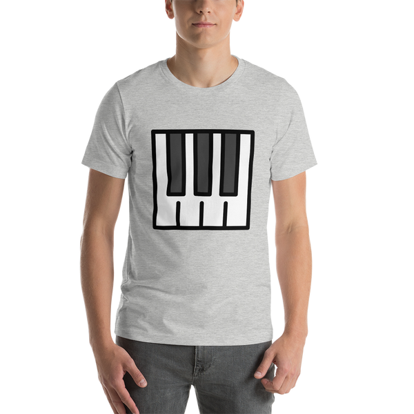 Emoji T-Shirt Store | Musical Keyboard emoji t-shirt in Light gray
