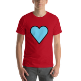 Emoji T-Shirt Store | Blue Heart emoji t-shirt in Red