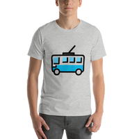 Emoji T-Shirt Store | Trolleybus emoji t-shirt in Light gray