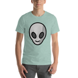 Emoji T-Shirt Store | Alien emoji t-shirt in Green