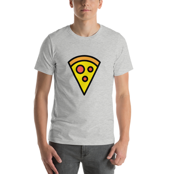 Emoji T-Shirt Store | Pizza emoji t-shirt in Light gray
