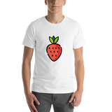 Emoji T-Shirt Store | Strawberry emoji t-shirt in White