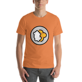 Emoji T-Shirt Store | Curry Rice emoji t-shirt in Orange