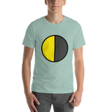 Emoji T-Shirt Store | Last Quarter Moon emoji t-shirt in Green