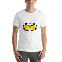 Emoji T-Shirt Store | Clinking Beer Mugs emoji t-shirt in White