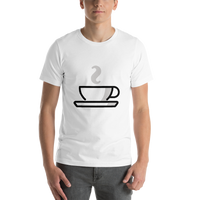 Emoji T-Shirt Store | Hot Beverage emoji t-shirt in White