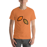 Emoji T-Shirt Store | Fallen Leaf emoji t-shirt in Orange