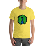 Emoji T-Shirt Store | Peacock emoji t-shirt in Yellow