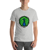 Emoji T-Shirt Store | Peacock emoji t-shirt in Light gray