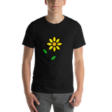 Emoji T-Shirt Store | Sunflower emoji t-shirt in Black