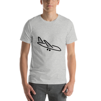 Emoji T-Shirt Store | Airplane Arrival emoji t-shirt in Light gray