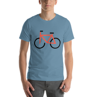 Emoji T-Shirt Store | Bicycle emoji t-shirt in Blue