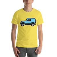 Emoji T-Shirt Store | Sport Utility Vehicle emoji t-shirt in Yellow