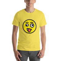 Emoji T-Shirt Store | Zany Face emoji t-shirt in Yellow