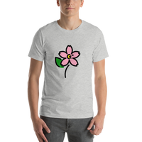 Emoji T-Shirt Store | Cherry Blossom emoji t-shirt in Light gray