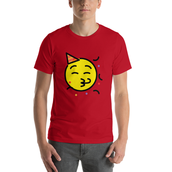 Emoji T-Shirt Store | Partying Face emoji t-shirt in Red