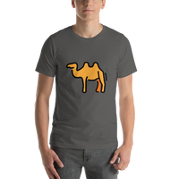 Emoji T-Shirt Store | Two-Hump Camel emoji t-shirt in Dark gray