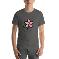 Emoji T-Shirt Store | Cherry Blossom emoji t-shirt in Dark gray