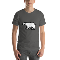 Emoji T-Shirt Store | Polar Bear emoji t-shirt in Dark gray