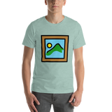 Emoji T-Shirt Store | Framed Picture emoji t-shirt in Green