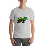 Emoji T-Shirt Store | Turtle emoji t-shirt in Light gray