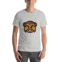 Emoji T-Shirt Store | See-No-Evil Monkey emoji t-shirt in Light gray
