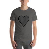Emoji T-Shirt Store | Black Heart emoji t-shirt in Dark gray