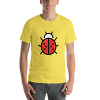 Emoji T-Shirt Store | Lady Beetle emoji t-shirt in Yellow