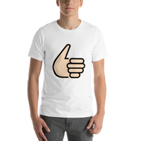 Emoji T-Shirt Store | Thumbs Up, Light Skin Tone emoji t-shirt in White