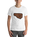Emoji T-Shirt Store | Right Facing Fist, Dark Skin Tone emoji t-shirt in White