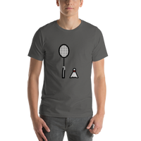 Emoji T-Shirt Store | Badminton emoji t-shirt in Dark gray