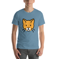 Emoji T-Shirt Store | Cat Face emoji t-shirt in Blue