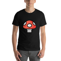 Emoji T-Shirt Store | Mushroom emoji t-shirt in Black