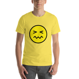 Emoji T-Shirt Store | Confounded Face emoji t-shirt in Yellow