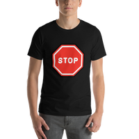 Emoji T-Shirt Store | Stop Sign emoji t-shirt in Black