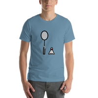 Emoji T-Shirt Store | Badminton emoji t-shirt in Blue