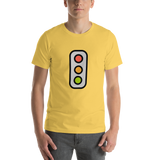 Emoji T-Shirt Store | Vertical Traffic Light emoji t-shirt in Yellow