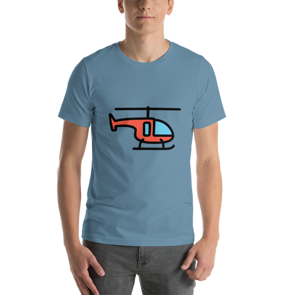 Emoji T-Shirt Store | Helicopter emoji t-shirt in Blue