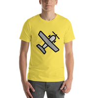 Emoji T-Shirt Store | Small Airplane emoji t-shirt in Yellow