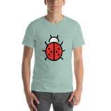 Emoji T-Shirt Store | Lady Beetle emoji t-shirt in Green