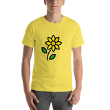 Emoji T-Shirt Store | Sunflower emoji t-shirt in Yellow