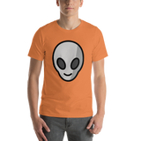 Emoji T-Shirt Store | Alien emoji t-shirt in Orange