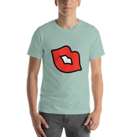 Emoji T-Shirt Store | Kiss Mark emoji t-shirt in Green