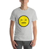 Emoji T-Shirt Store | Expressionless Face emoji t-shirt in Light gray