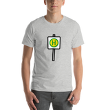 Emoji T-Shirt Store | Bus Stop emoji t-shirt in Light gray