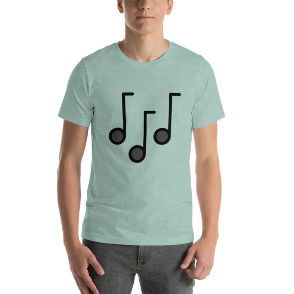 Emoji T-Shirt Store | Musical Notes emoji t-shirt in Green