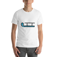 Emoji T-Shirt Store | Sled emoji t-shirt in White