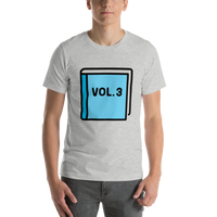 Emoji T-Shirt Store | Blue Book emoji t-shirt in Light gray