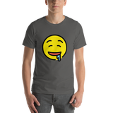 Emoji T-Shirt Store | Drooling Face emoji t-shirt in Dark gray